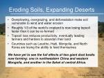 eroding soils expanding deserts