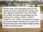 hunger rising