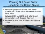 phasing out fossil fuels hope from the united states
