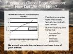 precarious global food situation how did we get here