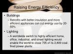 raising energy efficiency
