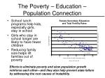 the poverty education population connection
