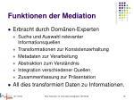 funktionen der mediation