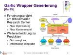 garlic wrapper generierung gar95