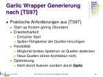 garlic wrapper generierung nach ts97