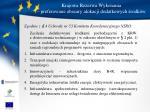 krajowa rezerwa wykonania preferowane obszary alokacji dodatkowych rodk w