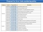 proposal for error code numbering policy3