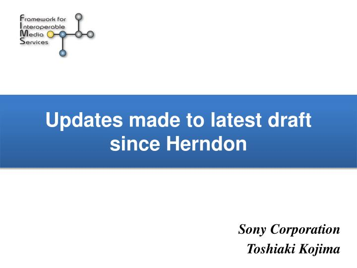 updates made to latest draft since herndon n.