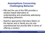 assumptions concerning challenging behavior1
