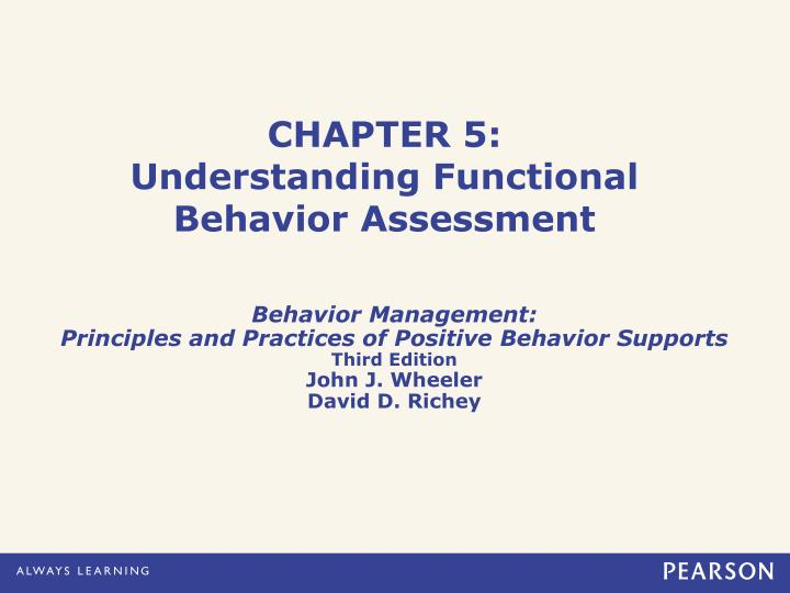 chapter 5 understanding functional behavior assessment n.