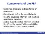 components of the fba
