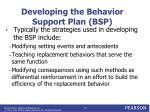 developing the behavior support plan bsp