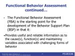 functional behavior assessment continued