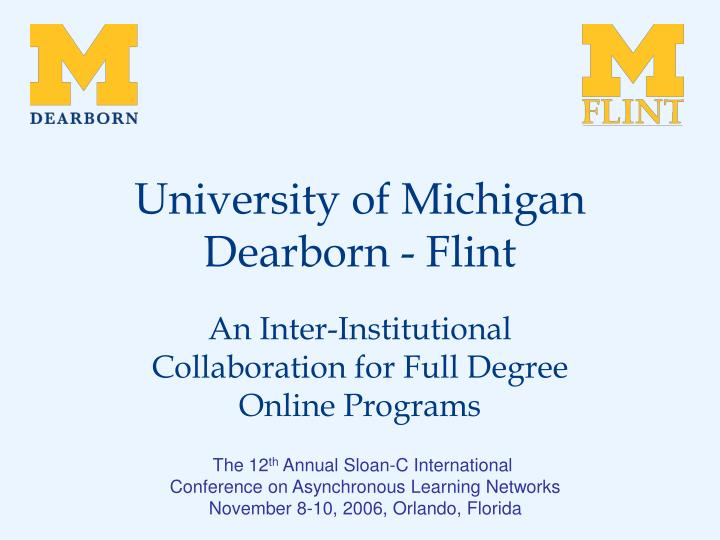 university of michigan dearborn flint n.