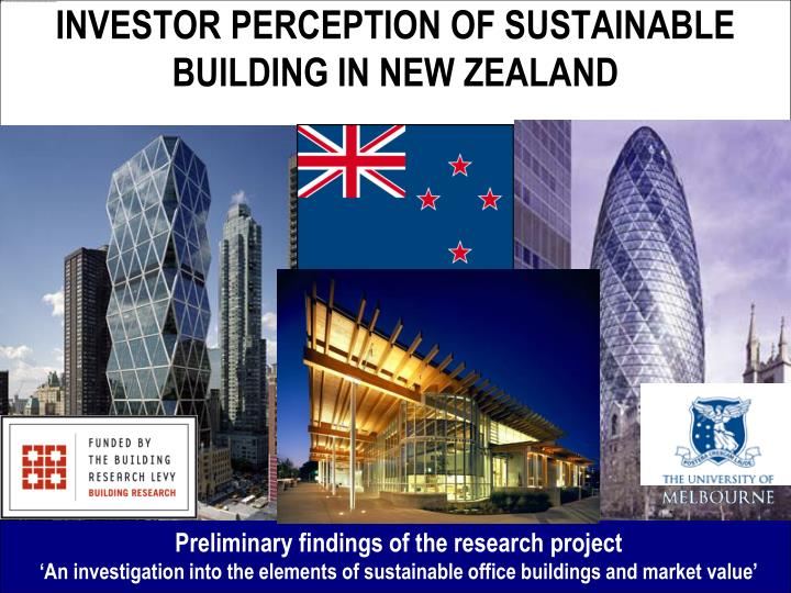 investor perception of sustainable building in new zealand n.
