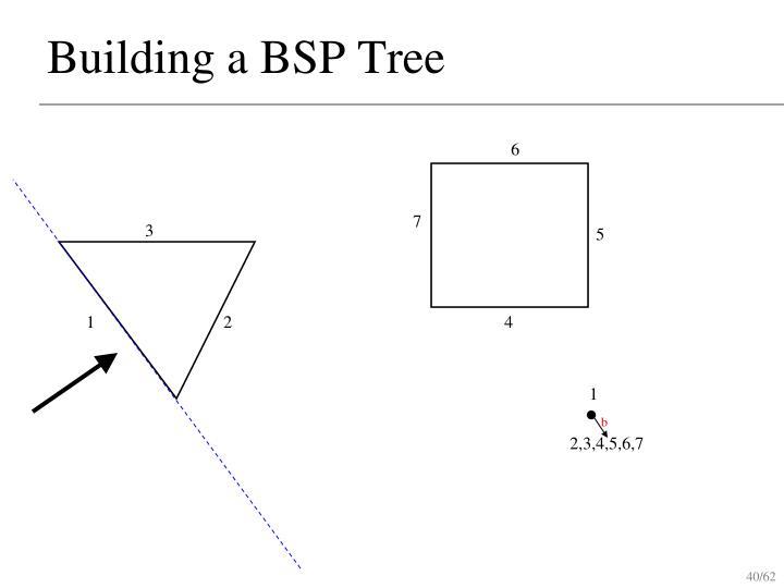Building a BSP Tree