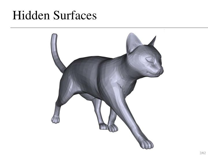 Hidden surfaces1