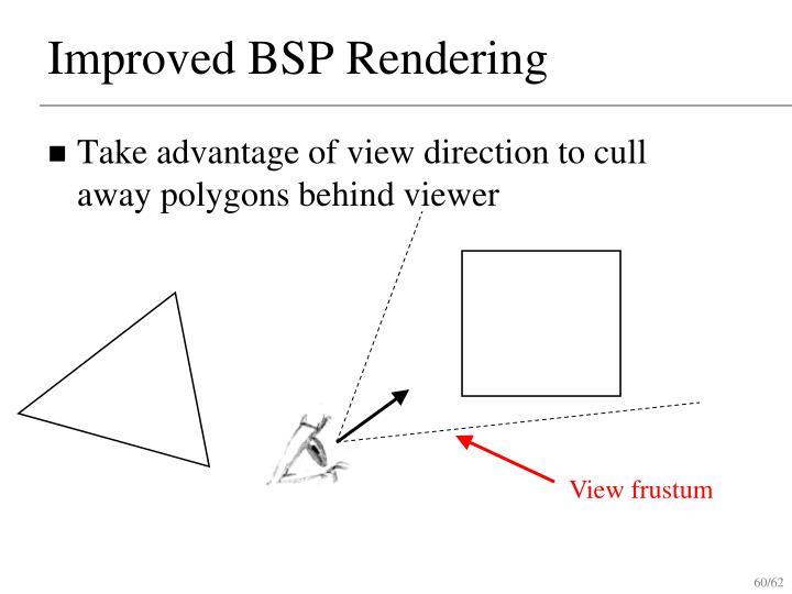 Improved BSP Rendering
