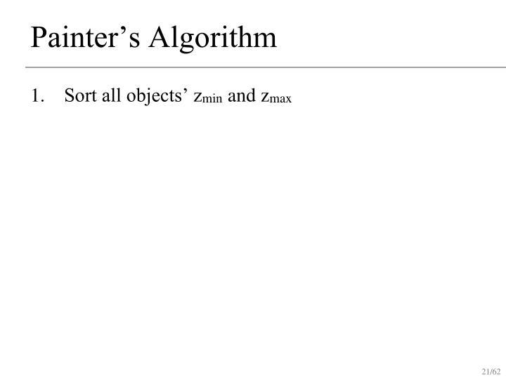 Painter's Algorithm