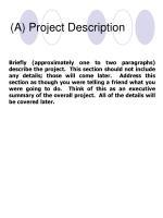 a project description