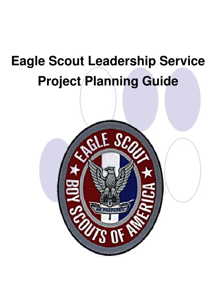 eagle scout leadership service project planning guide n.