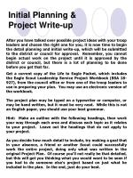 initial planning project write up