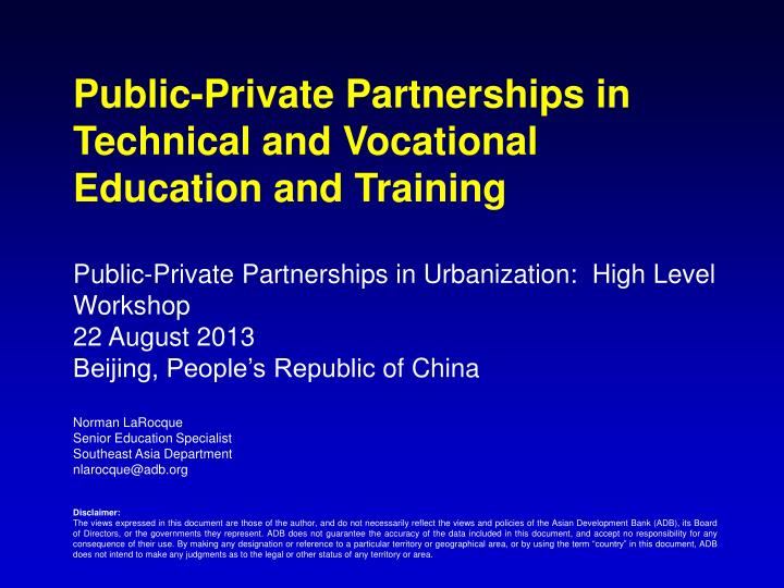 importance of technical vocational institution essay Role of strategic procurement practices on organizational performance in technical vocational education training particular institution was that for many years the.
