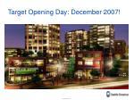 target opening day december 2007