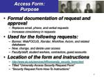 access form purpose