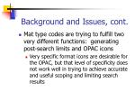 background and issues cont2