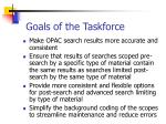 goals of the taskforce