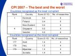 cpi 200 7 the best and the worst