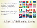 subject of national anthems