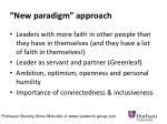 new paradigm approach1