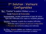 1 re solution visiteurs configurables