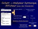 cosynt analyseur syntaxique afficheur avec des standards