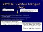 viprofile visiteur configur java