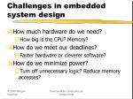 challenges in embedded system design