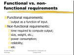 functional vs non functional requirements