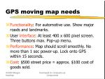 gps moving map needs