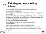 estrategias de marketing interno
