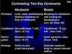 contrasting two key covenants1