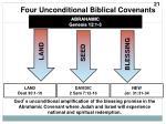 four unconditional biblical covenants