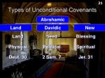 types of unconditional covenants