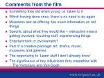 comments from the film
