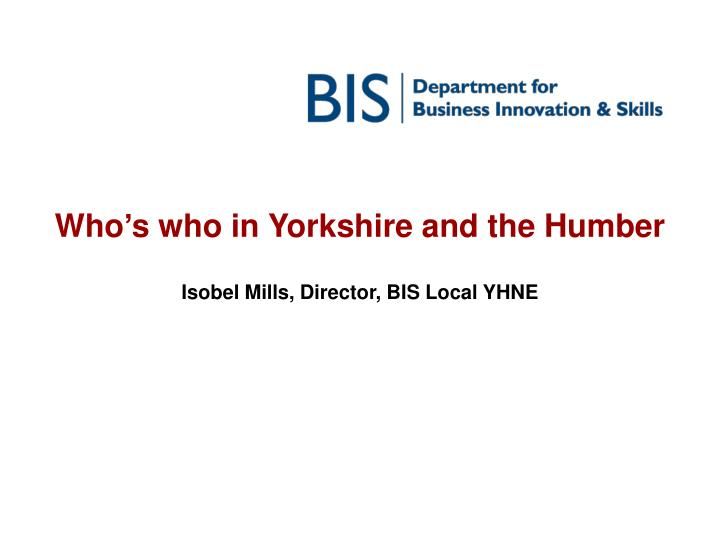 who s who in yorkshire and the humber n.
