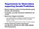 requirements for observations supporting decadal predictions
