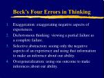 beck s four errors in thinking