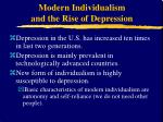 modern individualism and the rise of depression