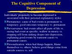 the cognitive component of depression